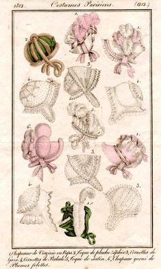 Bonnets, 1812 costume parisien