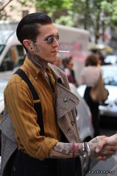 Подтяжки в мужской моде