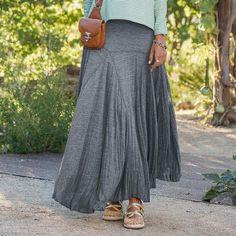 I am crazy in love with this skirt!! || JERSEY SWIRL SKIRT || SUNDANCE CATALOG