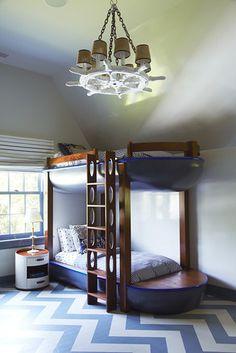 Nautical Home Design: Décor Takes to the Seas - WSJ.com - cute boat bunk beds! #nautical