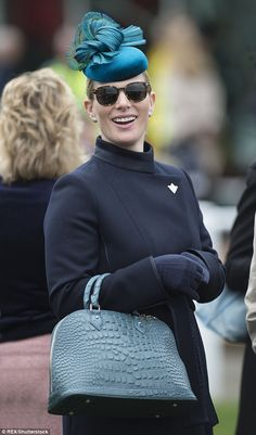The mother-of-one looked chic in a navy coat as she arrived for the first day of the Cheltenham Festival just days after competing at the Tweseldown Horse Trials in Hampshire. British Books, British Family, Princess Anne, Royal Princess, Aintree Races, Zara Hats, Royal Ascot Races, Mike Tindall, Zara Phillips