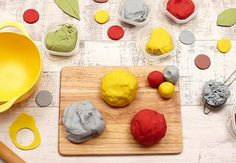 This is a quick and easy recipe that kids can help make as well as play with.
