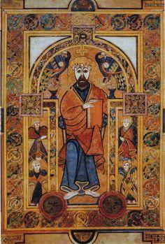 Christ and Mary in the Book of Kells, Trinity University, Dublin, Ireland