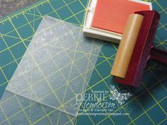 Debbie's Designs: Tuesday Tips or Techniques-Inked Embossing Folder Stamps!