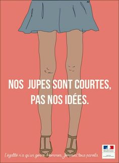 """ÉgalitéE 2020 – The competition: """"Our skirts are quick, not our concepts. Who Runs The World, Change The World, Boy Illustration, Illustrations, Concours Photo, Smash The Patriarchy, Girl Empowerment, French Quotes, Girly Quotes"""