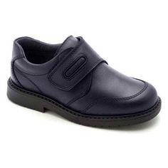 Zapatos colegiales de Pablosky con puntera reforzada y cierre velcro