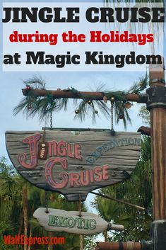 Video: Jingle Cruise during the Holidays at Magic Kingdom! This ride is famous at Disney World during the Holidays!