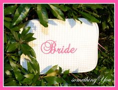 READY to SHIP  Wedding Day Bride Cosmetic Bag by SomethingYouGifts, $18.95