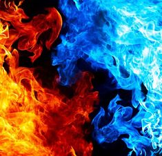 Red And Blue Fire Wallpaper 4k Wallpaper Download, Fire Image, Flame Art, Ice Art, Fire And Ice, Wallpaper S, Red And Blue, Photography, Painting