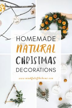 Want some natural Christmas decor inspiration? Check out these easy and zero-waste DIY ideas using tree branches, evergreens, oranges, and more. These simple ideas are super eco-friendly and budget-friendly. #Christmas #DIY #homedecor #naturaldecor #naturedecor #zerowaste #sustainability #christmas #DIY #decor #mindfulofthehome #ecofriendly #zerowaste #natural Merry Christmas, Christmas On A Budget, Christmas Diy, Natural Christmas Tree, Scandinavian Christmas, Christmas Christmas, Christmas Wreaths, Decoration Inspiration, Decor Ideas