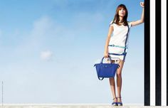 Alexa Chung is lending her talent to Longchamp for her third campaign with the French brand.