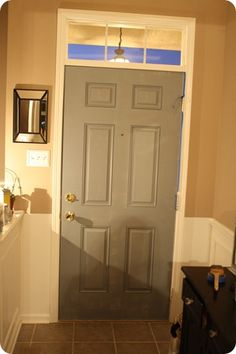 Love The Idea Of Painting The Inner Door A Color Other Then White.