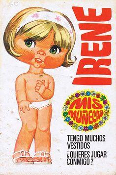 que gracia, tenìamos un montòn! Fabric Doll Pattern, Fabric Dolls, Irene, Paper Toys, Paper Crafts, 80 Cartoons, Ewok, Film Books, Vintage Paper Dolls