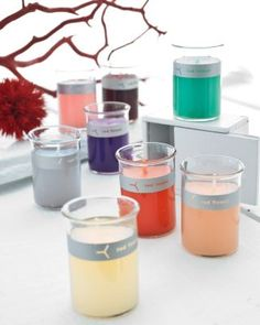 Love the color these would bring to a patio or bathroom... #garnethill #summerstyle Little Flower Candle Set of Six by Red Flower