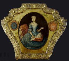 Portret trumienny damy herbu Krzywda i Bończa, 1750, MNK( National Museum Cracow)