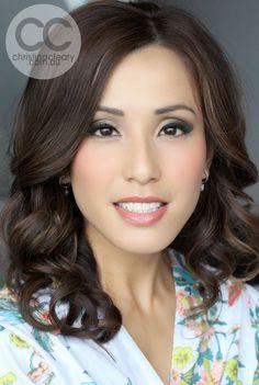 Chinese asian bridal makeup