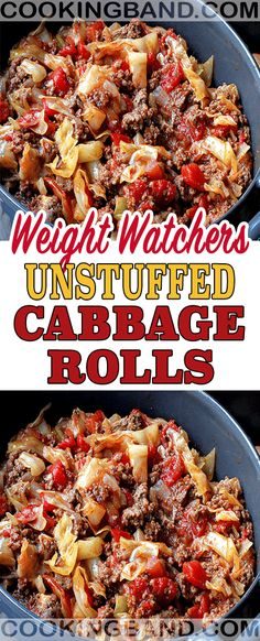 UNSTUFFED CABBAGE ROLLS I love cabbage, and this recipe is my favorite one.and don't worry about Weight watchers SmartPoints because this unstuffed cabbage rolls recipe come only with 3 weight watchers SmartPoints. Weight Watchers Cabbage Recipe, Weight Watchers Casserole, Weight Watchers Soup, Weight Watchers Smart Points, Weight Watcher Dinners, Weight Watchers Recipes With Smartpoints, Wieght Watchers, Weightwatchers Recipes, Skinny Recipes