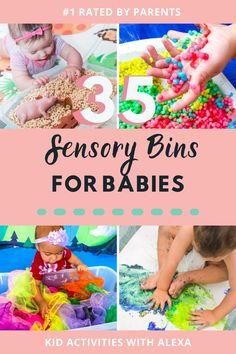 Baby Activity Board, Baby Sensory Board, Baby Sensory Play, Activity Ideas, Baby Play, Sensory Bins, 7 Month Old Baby Activities, Baby Learning Activities, Infant Sensory Activities