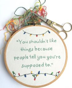 Stranger Things Embroidery Hand Embroidered Hoop Art Gift Colorful Embroidery Johnathan Byers Quote Unique Gift for Stranger Things Fans