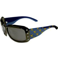 West Virginia Mountaineers NCAA Women's Rhinestone Designer Sunglasses