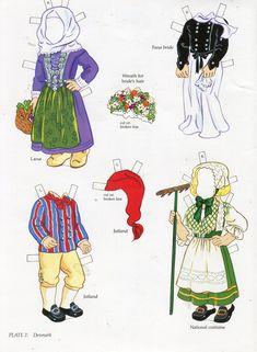 Scandinavian girl and boy - paper doll 9