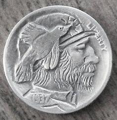 John Carter - Peckerhead Hobo Nickel, Cactus, Coins, America, Rooms, Usa