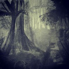 Mystic forest #charcoaldrawing