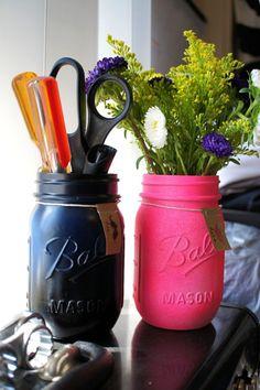His & Hers Mason Jars.