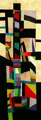 Large art quilt: BLACK and bold together..... my favorite mixture!
