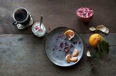 dining alone (26) • pomegranate, tangelo, + greek yogurt by Jennifer Causey