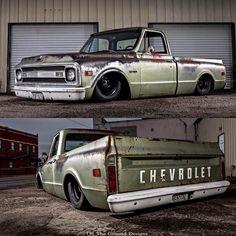 Showcasing the sickest Chevy trucks Bagged Trucks, Lowered Trucks, C10 Trucks, Lowered C10, 72 Chevy Truck, Chevy C10, Chevrolet Trucks, Lowrider Trucks, Vintage Pickup Trucks
