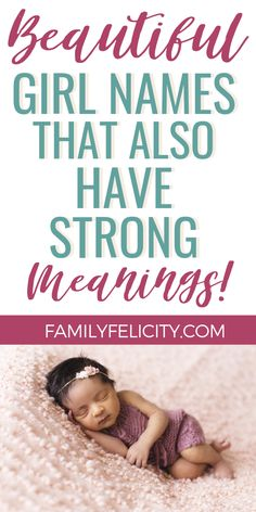 Beautiful Girl Names You'll Adore! These beautiful baby girl names really bring the lovely romance and the best part is these sweet names all have strong and powerful meanings! Good Girl Names, Strong Girl Names, Unusual Baby Girl Names, Baby Girl Names Uncommon, Beautiful Baby Girl Names, Girl Names With Meaning, Powerful Girl Names, Romantic Girl Names, Baby Names Uk