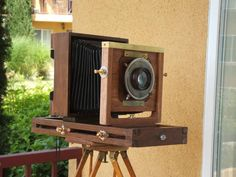 I've taken up projects for strange reasons before, but this is one of the strangest! I wanted a camera for my restored wooden tripod, but I failed to win. Camera Equipment, Photo Equipment, Photography Equipment, Antique Cameras, Vintage Cameras, Field Camera, Wet Plate Collodion, Wooden Camera, Plate Camera