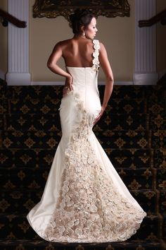 """Wedding Gown of the Week: Priscilla Costa - This dress is called """"Bella Fuxico"""". It is handmade with silk taffeta, organza, and swarovski crystals by Priscilla Costa of Brazil."""