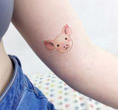 @tattooist_banul pig porco porquinho vegan veg vegetarian tattoo tatuagem