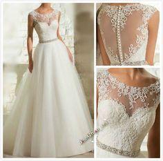 Weiß/Ivory Brautkleid Abendkleid Ballkleid Hochzeitskleid Gr:32 34 36 38 40 42 +