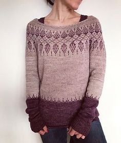 Ravelry: Humulus pattern by Isabell Kraemer Crochet Pullover Pattern, Sweater Knitting Patterns, Knit Patterns, Knit Crochet, Punto Fair Isle, Fair Isle Knitting, Knit Picks, Pulls, Knitwear