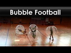 Bubble football. Quite an unusual looking sport.