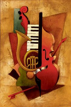Emanuel Mattini, 1966 - Illustration and Art Education Music Drawings, Art Drawings, Cubism Art, Jazz Art, Music Painting, Music Images, Fine Art Gallery, Modern Art, Graffiti
