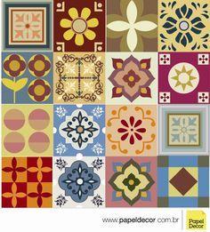 Papel Decor - Adesivo Azulejo Ladrilho HidráulicoPapel Decor - Adesivo Azulejo Ladrilho HidráulicoAMANHO 10x10 - R$ 29,90 TAMANHO 15X15 - R$ 49,90 TAMANHO 20X20 - R$ 89,90  Kit com 16 adesivos de azulejos, impressos em vinil FOSCO (sem brILHO)...Sob medida nos tamanhos 10x10, 15x15 ou 20x20.  Podem ser colados em qualquer superfície lisa como: azulejos, vidros, acrílicos, mesas, geladeiras, bandeijas, paredes cobertas com massa corrida  e onde mais sua imaginação permitir! - See more at: