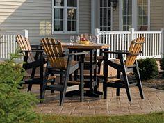 Black Brown Patio Furniture Sets Bar Height