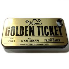 iPhone 4S/4 - Willy Wonka Golden Ticket Case! Are you the lucky one? Bidding starts at $10.