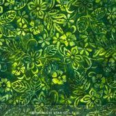Sumatra Batiks - Green Floral Yardage