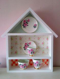 Shabby Chic, House shaped shelves | eBay