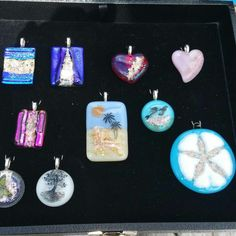 Cremation Pendants- Glass Loved Ones and/or Pets  I can encase a pinch of your loved ones and/or pets ashes, into a beautiful pendant or ornament. Prices start at $30 plus shipping.  Contact via Facebook Site. https://m.facebook.com/suzanne.dallefeld/