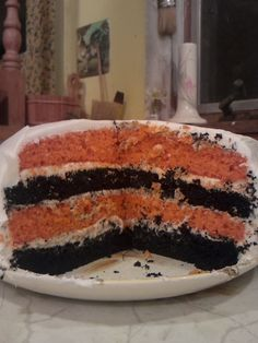 halloween colors cake