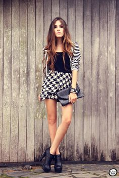 Black and White Skirt - Fashion Coolture