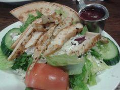 Small Greek Salad w/ Chicken @ Walker Grill.  $9.00 plus tax