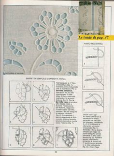 palestrina stitch on cutwork Hand Embroidery Tutorial, Hand Embroidery Stitches, Embroidery Techniques, Embroidery Applique, Cross Stitch Embroidery, Embroidery Patterns, Machine Embroidery, Types Of Embroidery, Learn Embroidery
