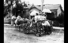 Jan. 1, 1895: This flower-decked carriage won first prize in the 1895 Rose Parade. The Los Angeles Times did not publish photos in 1895, but this image ran with a Times parade preview in 1957.